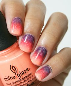 Glitter and Nails : Sunset Gradient