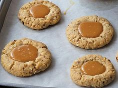 Anne Burrell's Almond Caramel Thumbprints