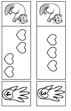 Kissing Hand matching game.  Use in file folder game