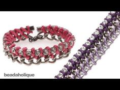 How to Tie Rhinestone Cup Chain onto Curb Chain - YouTube; awesome, easy to understand video.