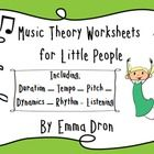 Printable worksheets for the early years with reference to Duration – Tempo – Pitch – Dynamics – Rhythm  and Listening.  Enjoy!  Miss Em...