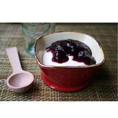 ... yogurt mousse gluten fre recipe blueberries fruit sauces greek yogurt