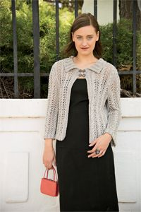 Silver Lace Cardigan - women's sweater knitting pattern, knit cardigan pattern