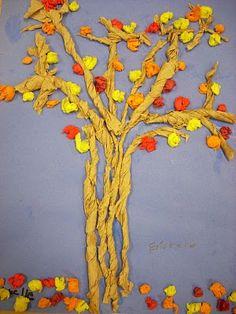 twist tree, school, art project, tissu paper, blossom trees, tree art, fall trees, paper towel, paper trees