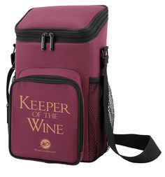 Keeper of the Wine Cooler Tote is perfect for all your outdoor excursions! Cheers!