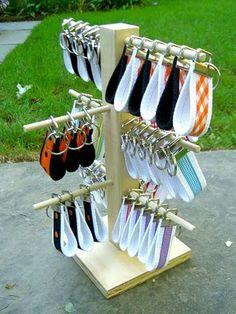 task cards, tree, bracelets, letter, craft fair, bibs, diy, booth idea, key fobs