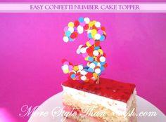 birthday three, child birthday, number cakes, kid birthdays, confetti numbers, happi birthday, caleb birthday