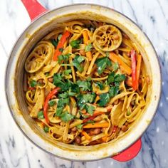Thai Peanut Pasta - One Dish Meals Recipes - Shape Magazine
