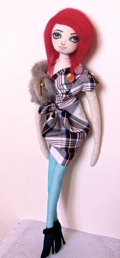Fashion Cloth Rag Art Doll Handmade OOAK Bobby by PlasticCity