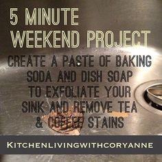 5 Minute Weekend Project:  A Clean Sink by @Coryanne Ettiene via Instagram