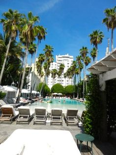 Delano, Miami. This revamped luxury art deco hotel is home to some amazing design. Eye candy everywhere. :)