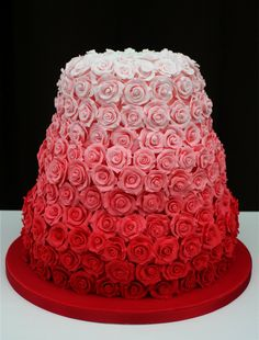 Ombre red cake