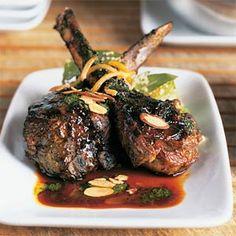 Lamb Chops with Moroccan Barbecue Sauce | MyRecipes.com