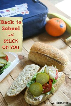 A review of Stuck on You lunch kits and great tips for packing awesome sub sandwiches in school lunches