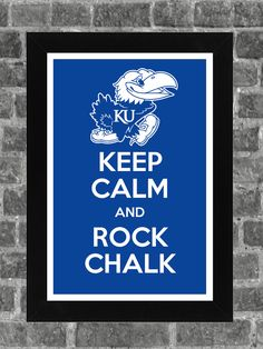 Keep Calm Kansas Jayhawks NCAA Print Art 11x17. $14.99, via Etsy.