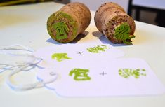 How to make custom stamps from wine corks for personalized gift wrapping
