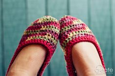 Happy 4th and Crochet Slippers! » 2Create in Color