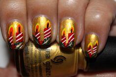 Christmas Candle Nails