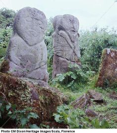 Pagan Celtic stone figures, c. 5th century BCE