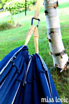 Miss Lovie: EASY DIY Backyard Hammock