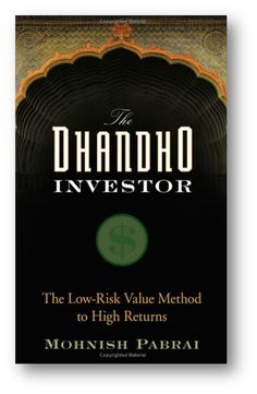 In a straightforward and accessible manner, The Dhandho Investor lays out the powerful framework of value investing. Written with the intelligent individual investor in mind, this comprehensive guide distills the Dhandho capital allocation framework of the business-savvy Patels from India and presents how they can be applied successfully to the stock market.  http://seekingalpha.com/article/1167991-the-dhandho-investor-the-low-risk-value-method-to-high-returns
