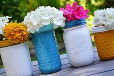 jar vase, masons, painted mason jars, paint mason, diy craft, masonjars3