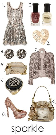 Sparkle with sequins and glitter