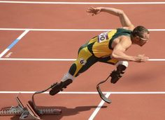 Oscar Pistorius of South Africa competing at the Olympics.