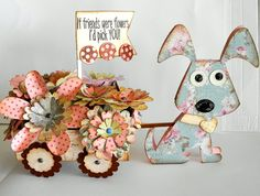 card idea, flower dog, toilet paper