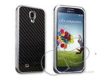 Twill Series Samsung Galaxy S4 Carbon Fiber Case i9500 - Silver