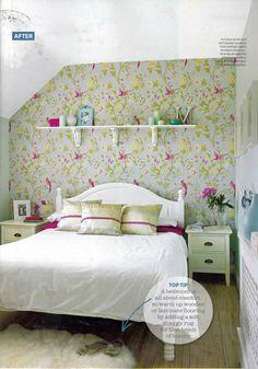 My laura ashley wallpaper lounge decor ideas pinterest for Eau de nil bedroom ideas