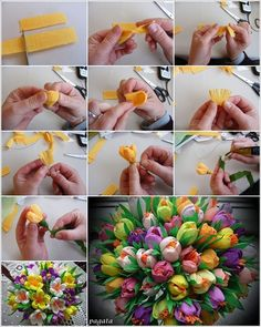 Paper and beaded flowers -all the beauty, none of the pollen!! on Pinterest Цветы Из Креп-бумаги, Бумажные Цветы and Бумажные Ро