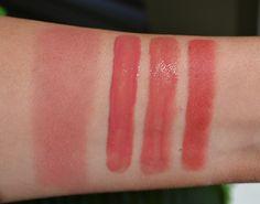 WANT IT :: NARS Dolce Vita Swatches...blush, lipgloss, lipstick  matte lip pencil. (Want them ALL! esp the lipstick/lipgloss!)