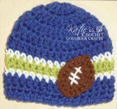 FREE Pattern Football Fan Hat