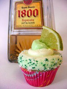 Cinco De Mayo Margarita Cupcakes..oh my goodness more alcohol cupcakes lol!!