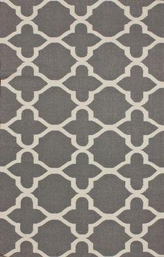 """$520.96 Rugs USA Tuscan Trellis Flatwoven Grey Rug    7'6"""" x 9'6"""""""