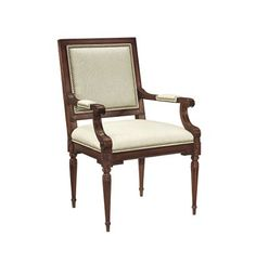 Louis XVI Square Back Arm Chair from the Atelier collection by Hickory Chair Furniture Co.