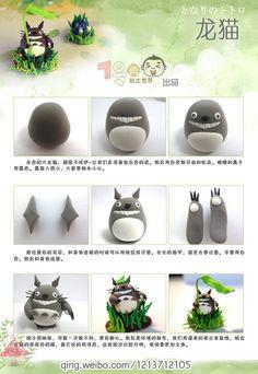 Tuto : Totoro en pâte polymère | Bijoux sucrés, Bijoux fantaisie, Bijoux gourmands, Pâte Fimo, Nail Art et Miniatures gourmandes