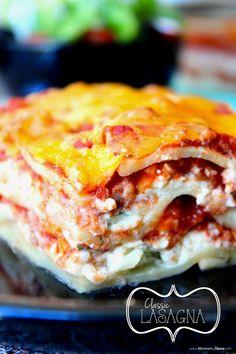 Classic Lasagna on MyRecipeMagic.com cook grandma, dinner idea, dinner food, food idea, blogger recip, andrew food, easi dinner, classic lasagna, favorit blogger