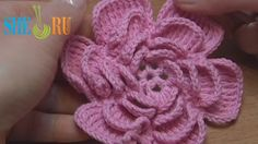 Crochet Fluffy Flower Tutorial 4 Part 1 (+playlist)
