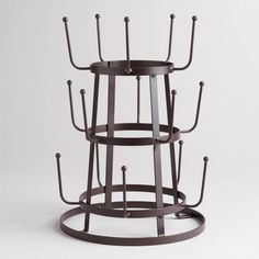 Wire 3-Tier Glass Drying Rack | World Market