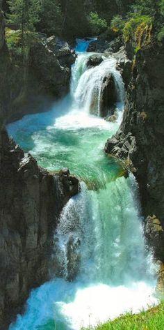 Englishman River Falls (near Nanaimo) on Vancouver Island, British Columbia, Canada •