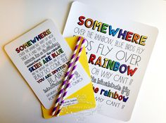 This #partyinvitation and #artprint make my heart happy!  I can almost hear #louiearmstrong singing #overtherainbow when I see it.  See the whole collection in the store and repin for your rainbow boards! #rainbow #partyinvitation #rainbowparty #birthday #invitation $1.95