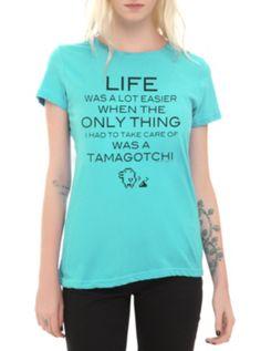 Tamagotchi Life Was Easier Girls T-Shirt