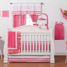 Simplicity Hot Pink Bedding by One Grace Place - Baby Crib Bedding - 10-18hp118