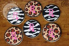 Zebra & Leopard Print Cookies!  zebra leopard print sugar cookies royal icing