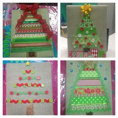 Burlap & Ribbon Christmas Tree Canvas