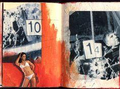 Gluebook - Bulletholes. Mixed media, 42 x 29,7 cm