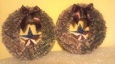Custom Military Wreaths by MadeInAmericaWreaths on Etsy Marine Corp Army Navy Air Force uniform wreaths American wreath handmade wreaths DIY wreath camo wreath