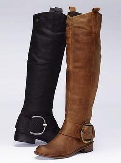 Steve Madden side buckle boot = dangerous because I'd never wear anything else.